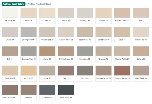 Prospec Bonsal Grout Colors Portland Direct Tile Marble