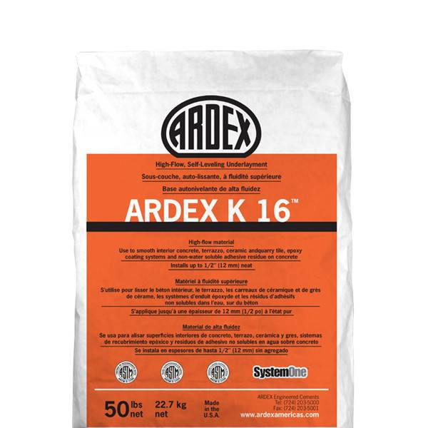 ARDEX K16 SELF LEVELING CONC