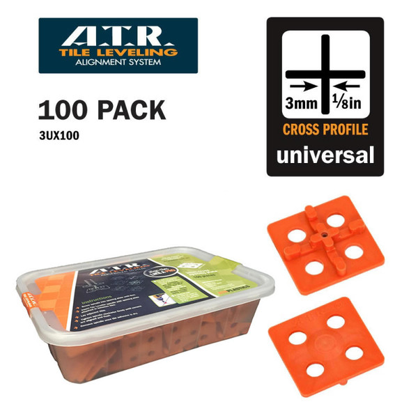 ATR Leveling System 100 Cross Spacers 3mm