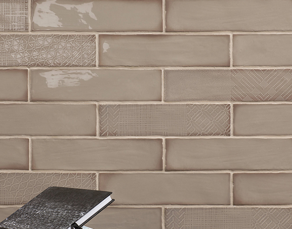 """Harlequin Taupe 3""""x12"""" Ceramic Wall Tiles"""