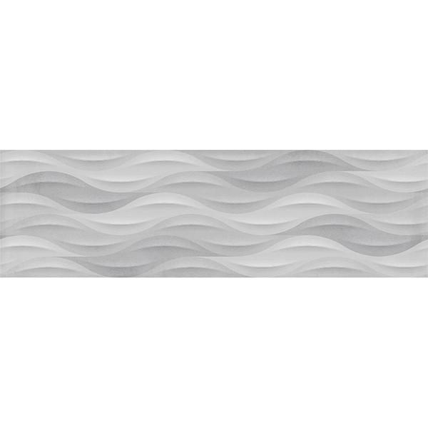 """Summer BREEZE GREY DECO 11.7""""x39.2"""" Ceramic Wall Tiles"""