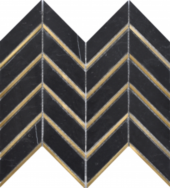 Nero Arrow Metal 12″x12″ Mosaic