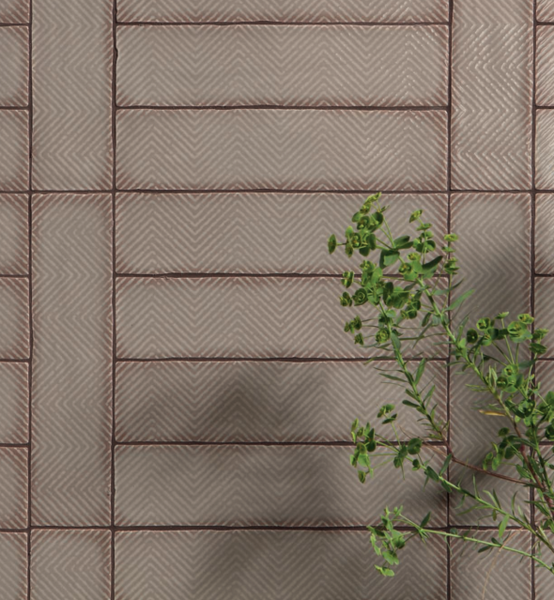 """Harlequin Taupe Arrow Pattern Gloss 3""""x12"""" Ceramic Wall Tiles"""