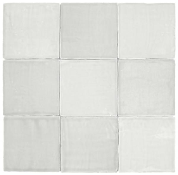 "Mediterranea Blanco Gloss 5""x5"" Ceramic Wall Tiles"