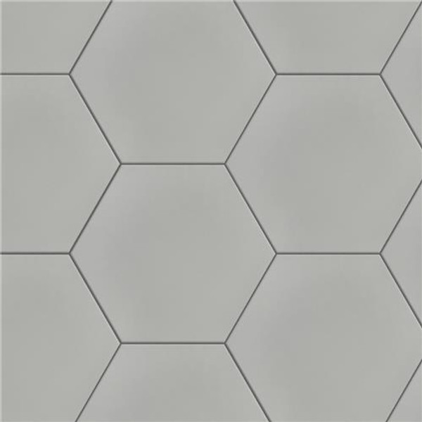 "Chromatic Grey 8""x9"" Hexagon Tiles"