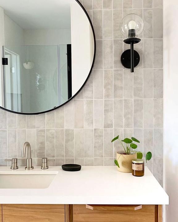 Studio Collection Grey Cloud 2.5x8 Bathroom Wall