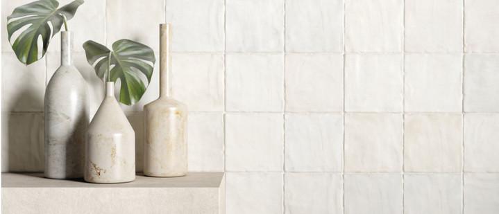 Trinity White Matte 4x4 Ceramic Tiles
