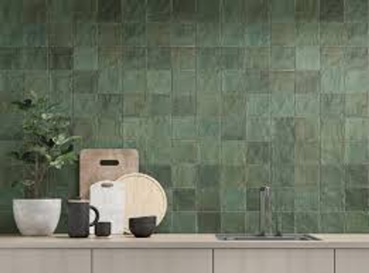 Trinity Green Matte 4x4 Ceramic Wall Tiles