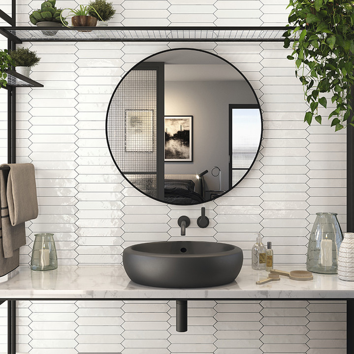 Switch 2×10 Picket Tile – White Gloss Wall
