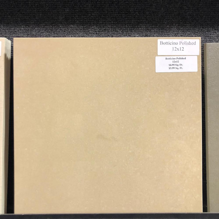 Botticino Polished 12x12 $2.99 Sq. Ft. Porcelain Tile (While Supplies Last)