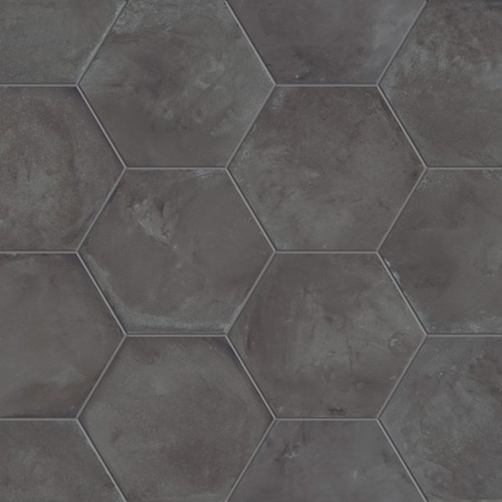 "Black Fox 8"" Hexagon Tiles"