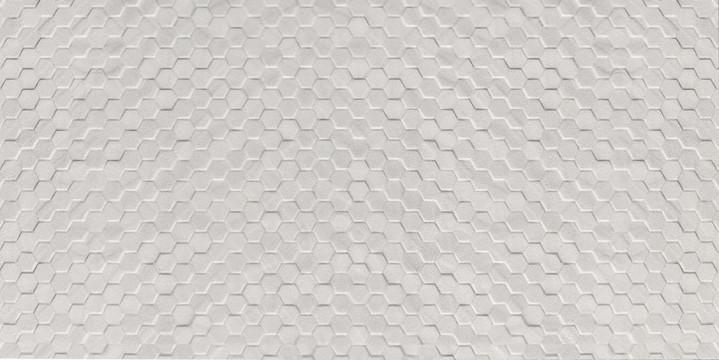 3D Hexagon White 12x24 Wall Tile