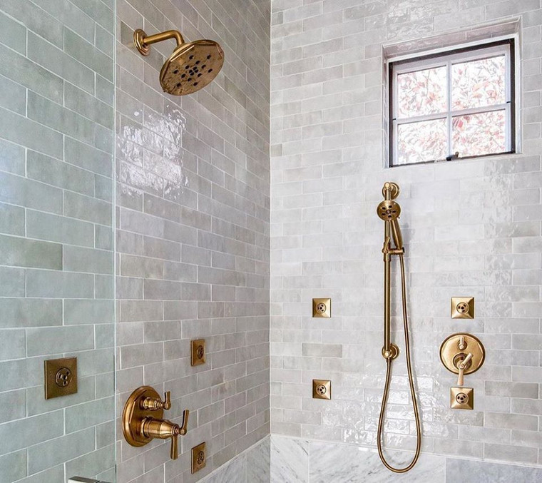 Studio Collection Grey Cloud 2.5x8 Shower Wall