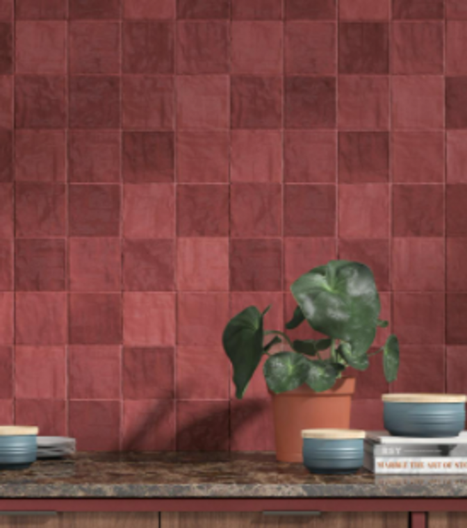 Trinity Red Matte 4x4 Ceramic Wall Tiles