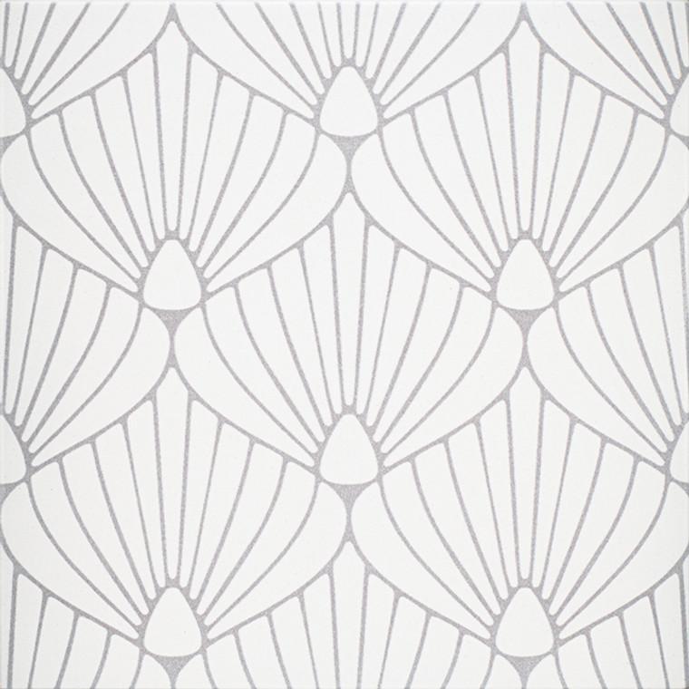 "Epic Porcelain Tile Collection Shell White Lavender 8""x8"" $8.99 Sq. Ft."