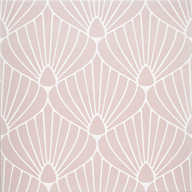 """Epic Porcelain Tile Collection Shell Pink White 8""""x8"""" $8.99 Sq. Ft."""