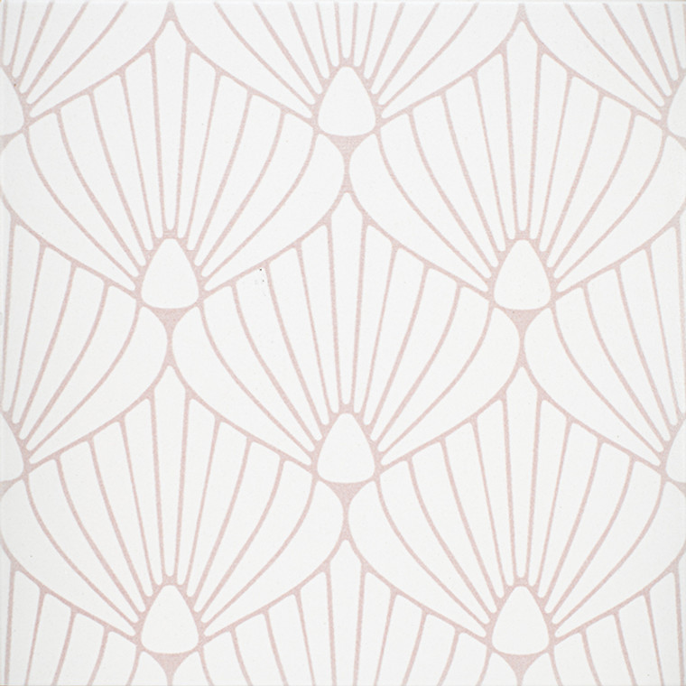 """Epic Porcelain Tile Collection Shell White Pink 8""""x8"""" $8.99 Sq. Ft."""