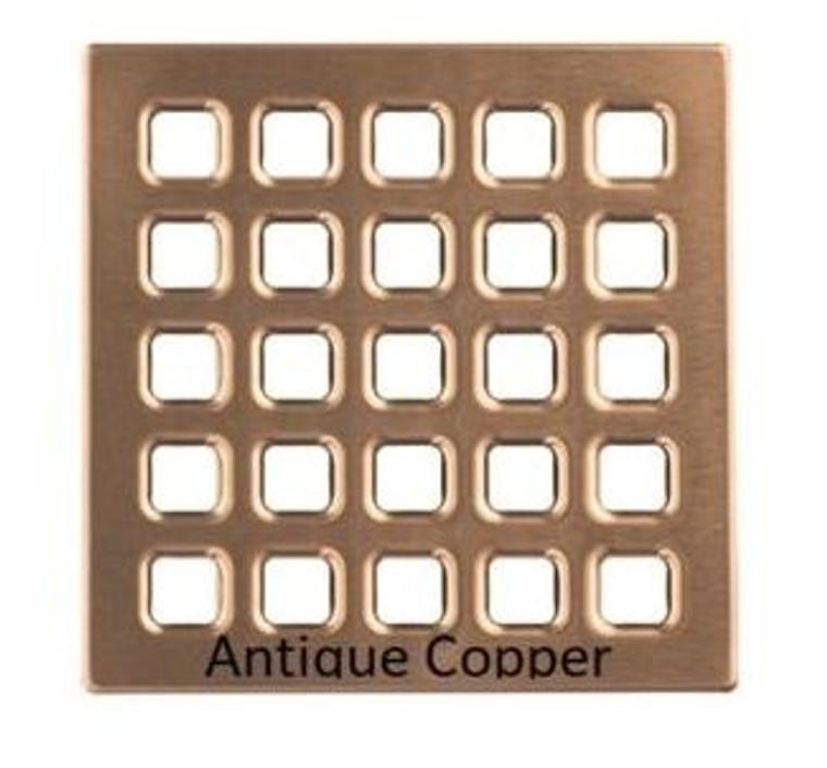 "Antique Copper USG Durock Shower System 4"" PRO Series Drain Grate Kit"