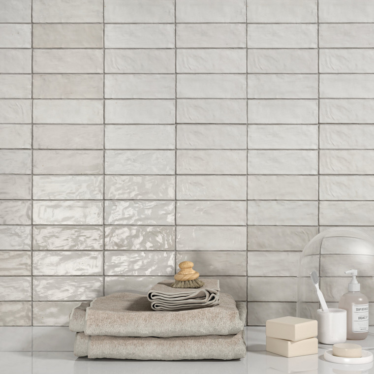 "Trinity White Gloss 2.6""x7.9"" Ceramic Wall Tiles"