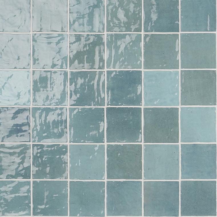 "Trinity Aqua Gloss 4""x4"" Ceramic Wall Tiles"