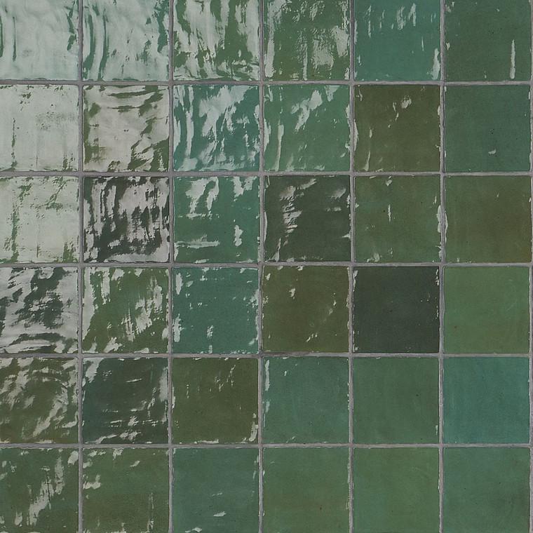 "Trinity Green Gloss 4""x4"" Ceramic Tiles"