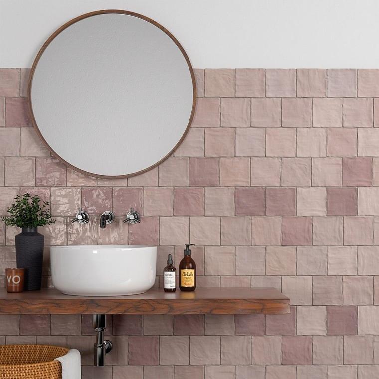 Trinity Pink Gloss 4x4 Ceramic Wall Tiles
