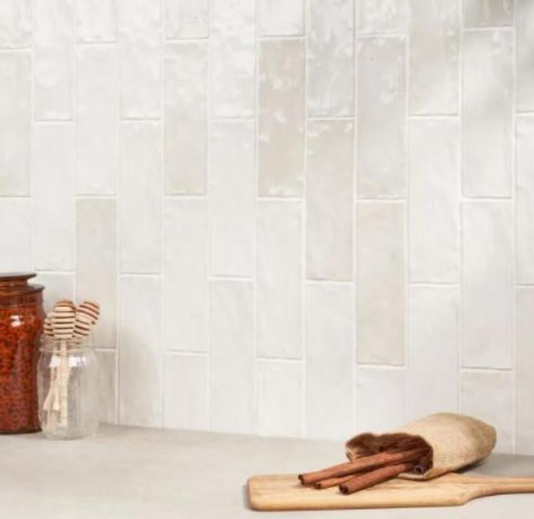 Trinity White Gloss 2.6x7.9 Ceramic Wall Tiles