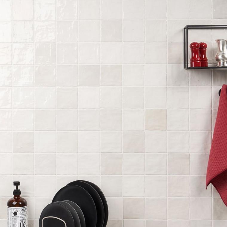 Trinity White Gloss 4x4 Ceramic Tile