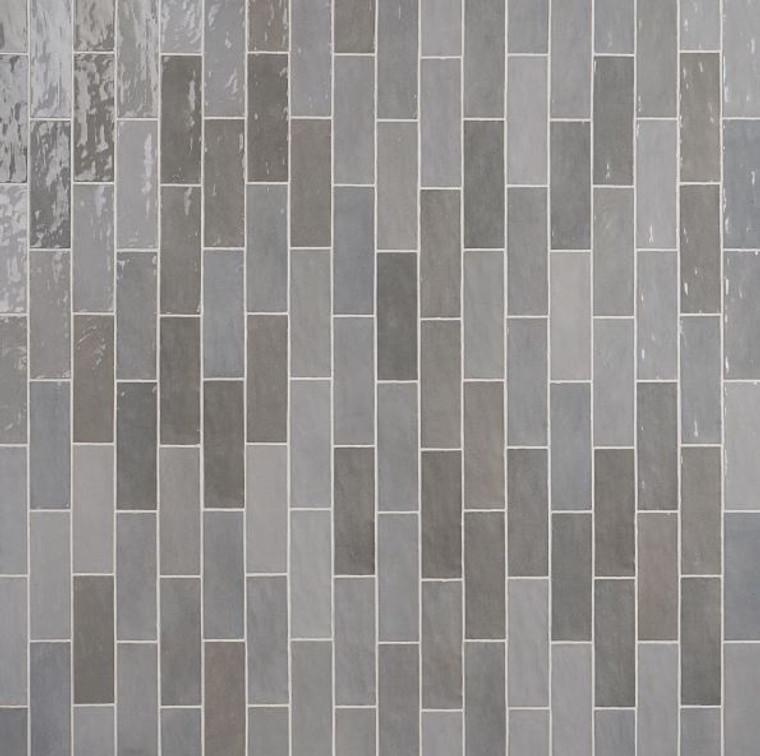 Trinity Grey Gloss 2.6x7.9 Ceramic Wall Tile