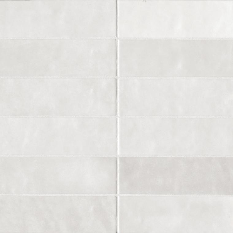 "Studio White Cloud Gloss 2.5""x8"" Wall Tiles"