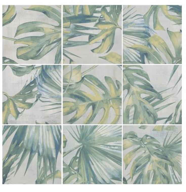"""Selva Leaves Porcelain Tile 8""""x8"""""""