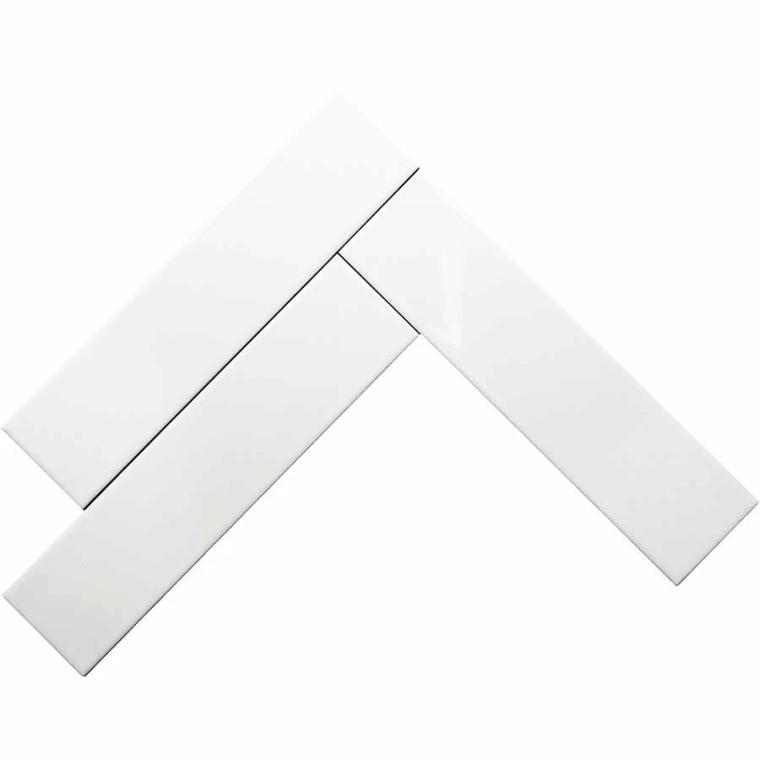 "Tivoli White Gloss 3""x12"" Ceramic Wall Tiles (In Stock)"