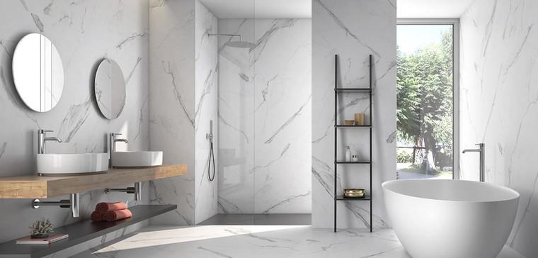 "Bianco Venantino Extra Matte 35""x35"" Porcelain Tiles"