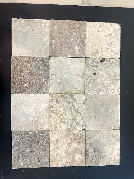 Noce Honed & Unfilled Travertine 4x4 $2.99 Sq. Ft.