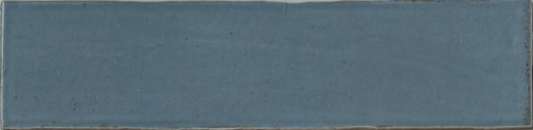"Manzanita Gloss Blue Steel Crackled 3""x12"""