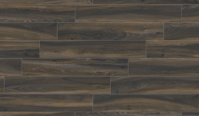 "ESSENTIAL CROSS DARK 8""x48"", 2""x2"" Square Mosaics, 8""x8"", Matching Bullnose"