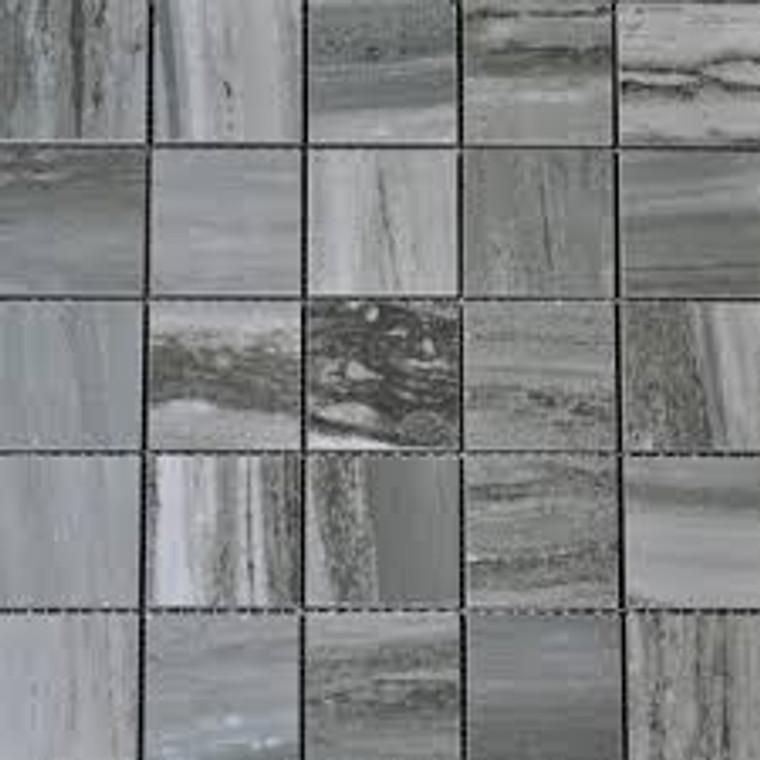 "Flow Ocean 2x2 Square Tile Mosaics on 12""x12"" Mesh"