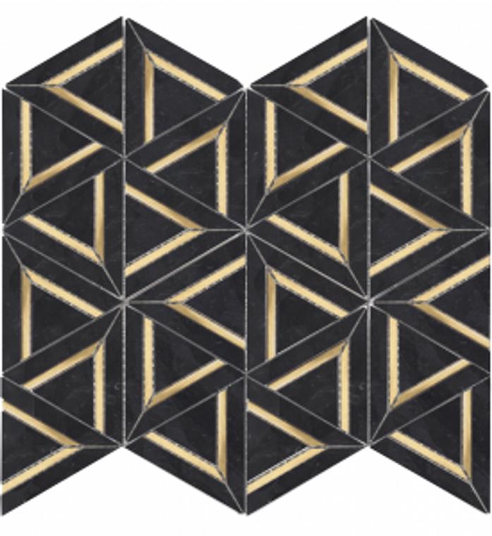 Nero Marquina Metal 12″x12″ Mosaic