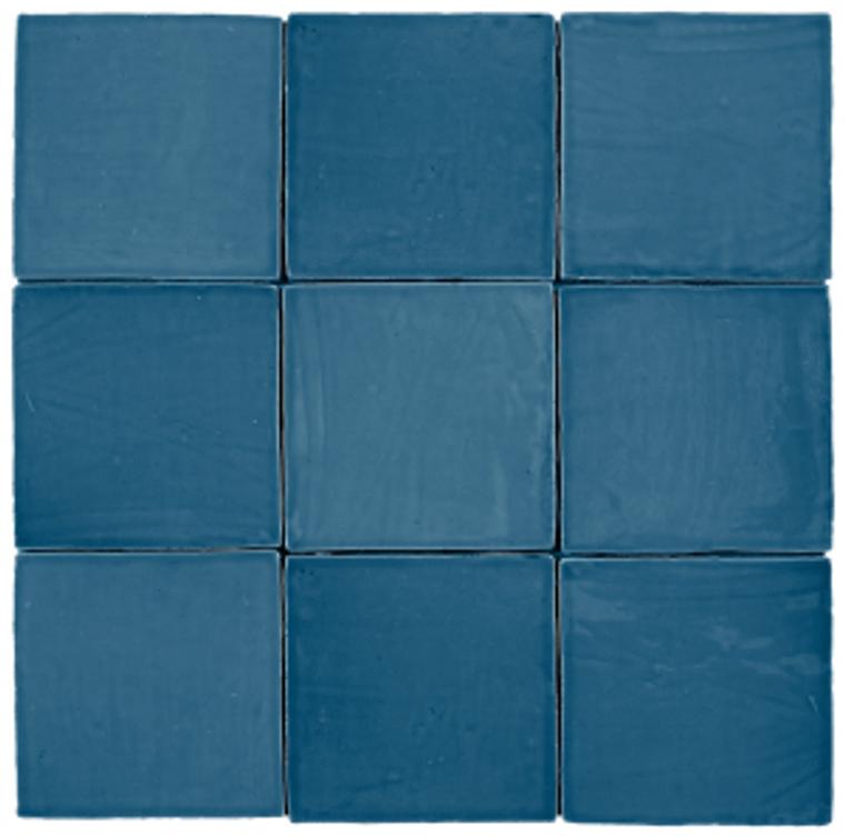 "Mediterranea Azul Gloss 5""x5"" Ceramic Wall Tiles"