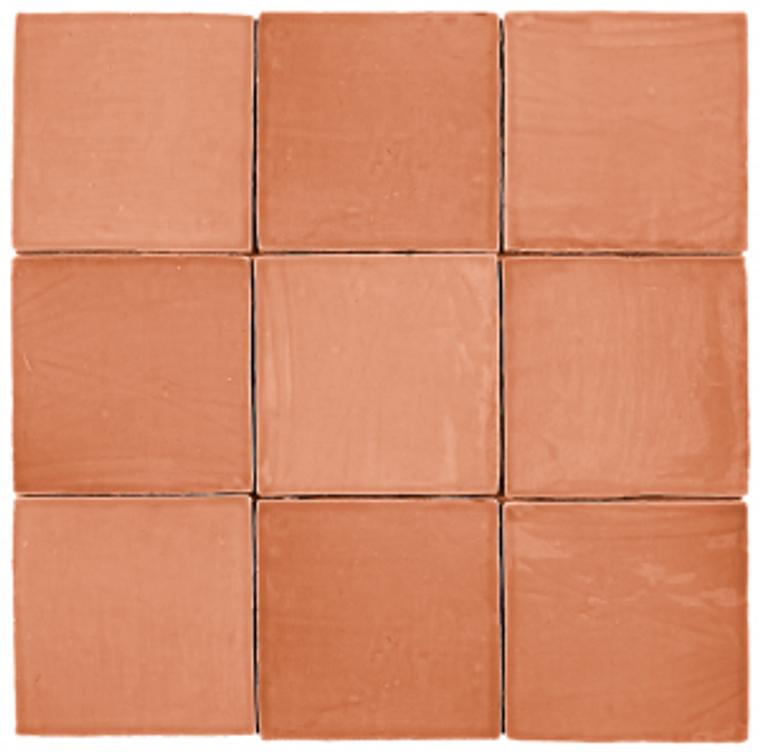 "Mediterranea Coral Gloss 5""x5"" Ceramic Wall Tile"
