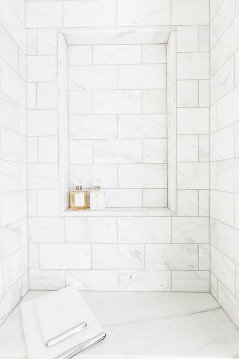 Thassos White Marble Polished 12x24 Shower Portland