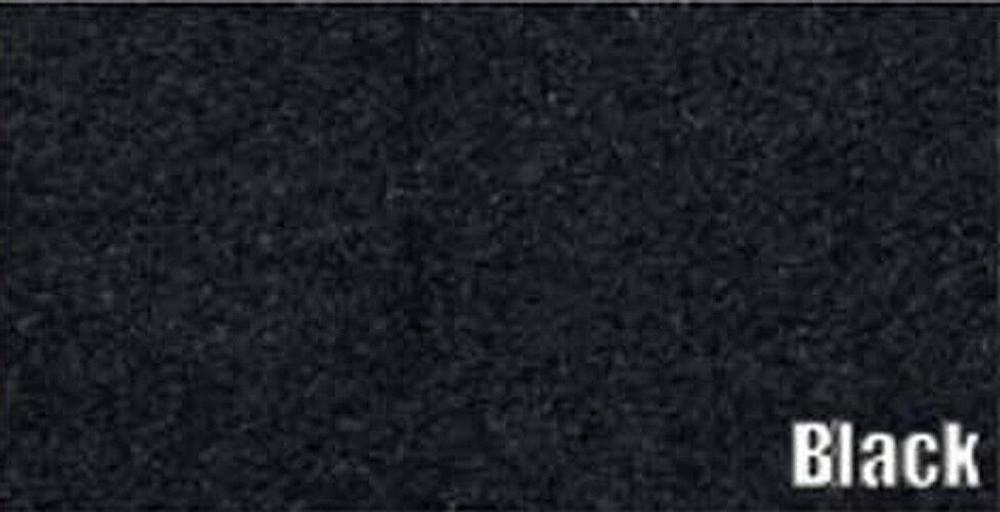 1973 CADILLAC SEDAN DEVILLE TRUNK CARPET KIT, BLACK, 3 PIECES.