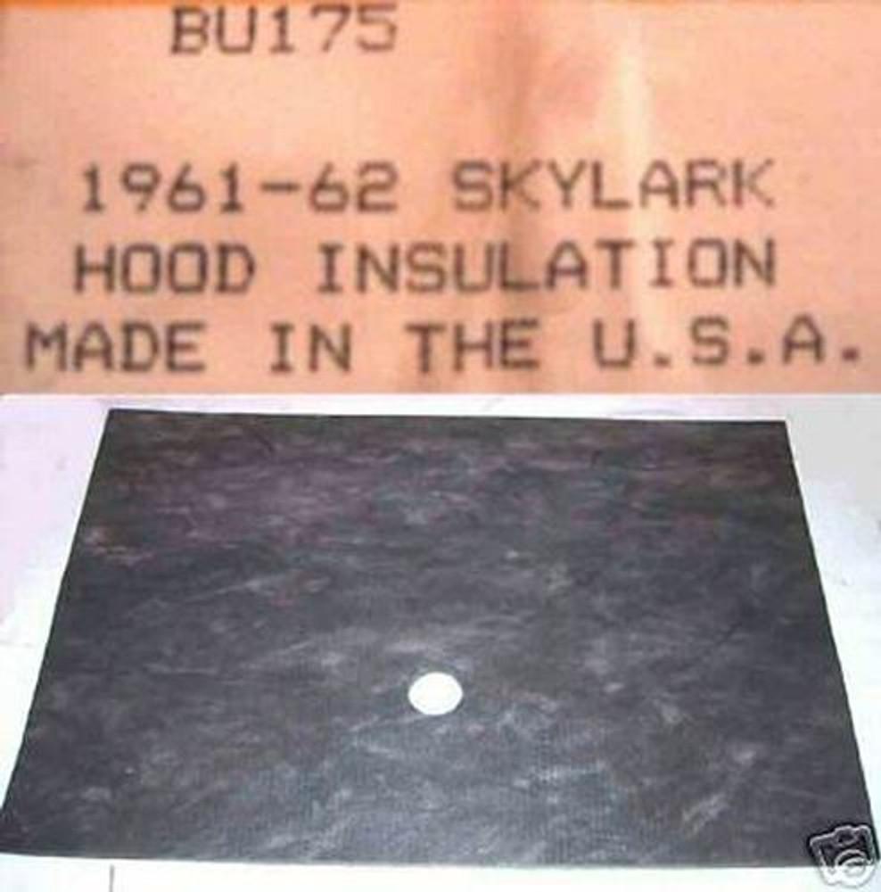 1961 - 1962 SKYLARK  HOOD INSULATION KIT INCLUDES CLIPS