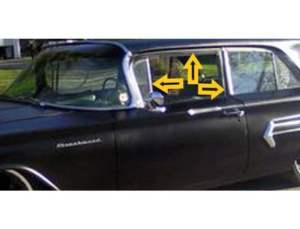 1959-1960 CHEVY 4-DOOR WAGON UPPER CHANNEL & DIVISION BAR WEATHERSTRIP KIT, 4 PI