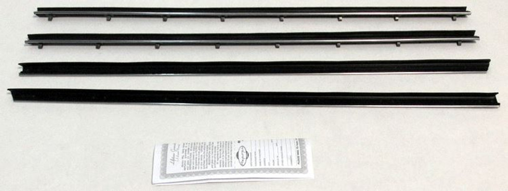 1966-67 DODGE / PLYMOUTH COUPE WINDOW WEATHERSTRIP KIT OUTERS ONLY (4 PIECES)