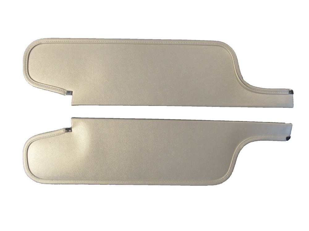 1963-1965 DART GT CONVERTIBLE SUN VISORS, BISON PATTERN, PEARL WHITE COLOR