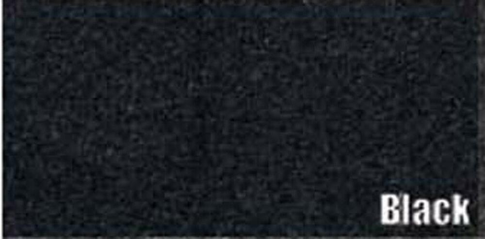 1953-1954 MERCURY TRUNK MAT KIT, BLACK GRAINED RUBBER 2PC.