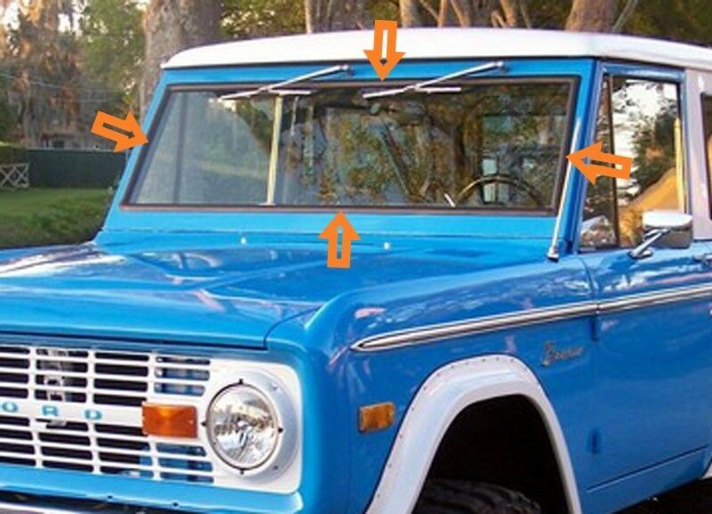 1966-1977 FORD BRONCO WINDOW WEATHERSTRIP KIT