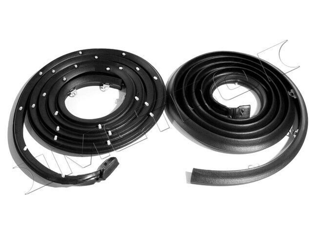1957-58 GM 2dr Molded Door Seals with Clips. For Hardtop & Convertible Pair R&L