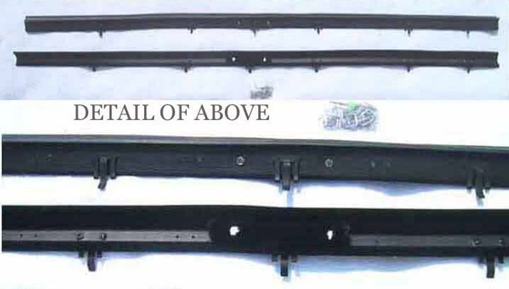 1984 - 1990 LINCOLN MARK VII WINDOW BELTLINE WEATHERSTRIP OUTERS ONLY